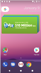 Android Lottery Image of medium sized stacked widget
