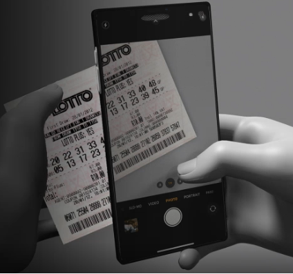 Phone scanning a lottery ticket